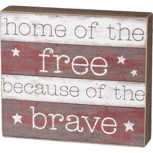 NEW Box Sign - The Brave - 38207