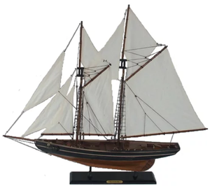"NEW Wood Sailboat Model - ""Blue Nose"" - dv141040"