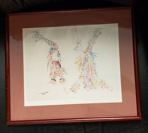 "Framed and Matted Art Print ""Bermuda Gombeys in Watercolor"" by Diana Watlington Rootnik"