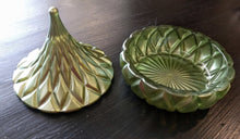 Load image into Gallery viewer, NEW Godinger Dublin Crystal Candy Dish - Green