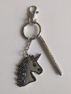 NEW Key Ring with Charms - Unicorn