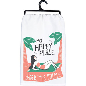 NEW Dish Towel - My Happy Place Under The Palms - 103647