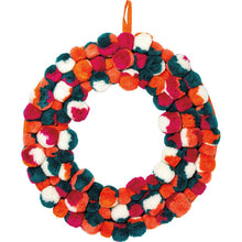 Load image into Gallery viewer, NEW Wreath - Pom Pom Multi - 101036