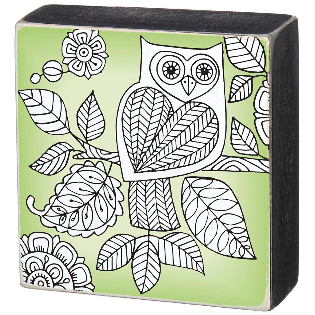NEW - Color Sign - Owl - 32216