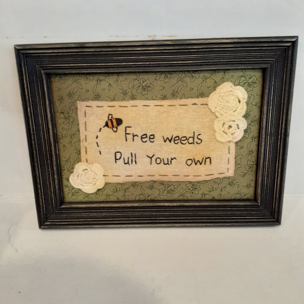 NEW - Stitchery - Free Weeds - 30184