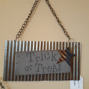NEW 10x5 Salvage Sign - Trick or Treat F181120