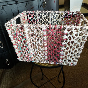 NEW 12x16 Iron & Cloth Woven Basket