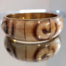 Load image into Gallery viewer, NEW Bone & Brass Bangle India 12838