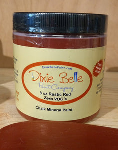 Dixie Belle Rustic Red Chalk Mineral Paint 8oz