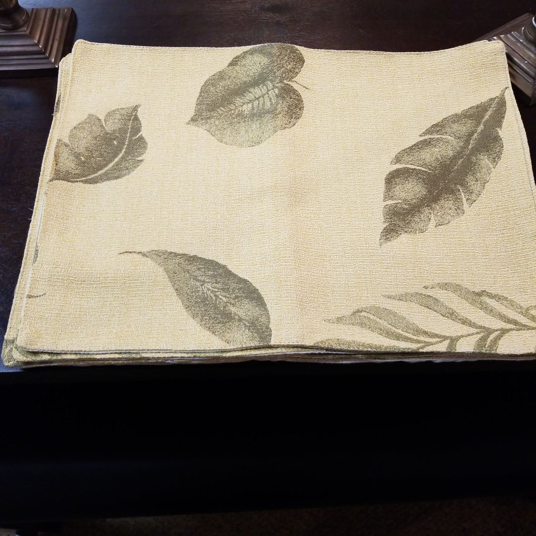 NEW (Pair) Leaf Design Placemats