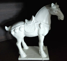 "Load image into Gallery viewer, NEW 14"" White Ceramic Horse - 66871"