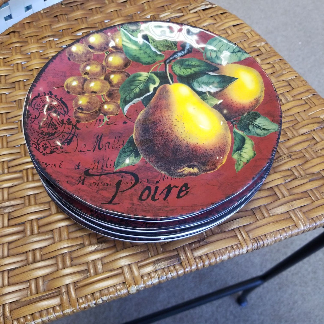 NEW Certified International French Fruit Luncheon Plate SET of 4