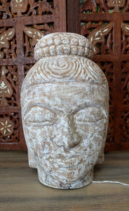 "NEW 9"" Mango Wood Buddha Head"