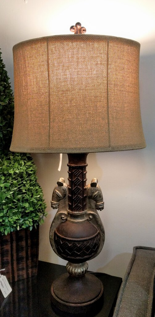 Horse Table Lamp with Shade