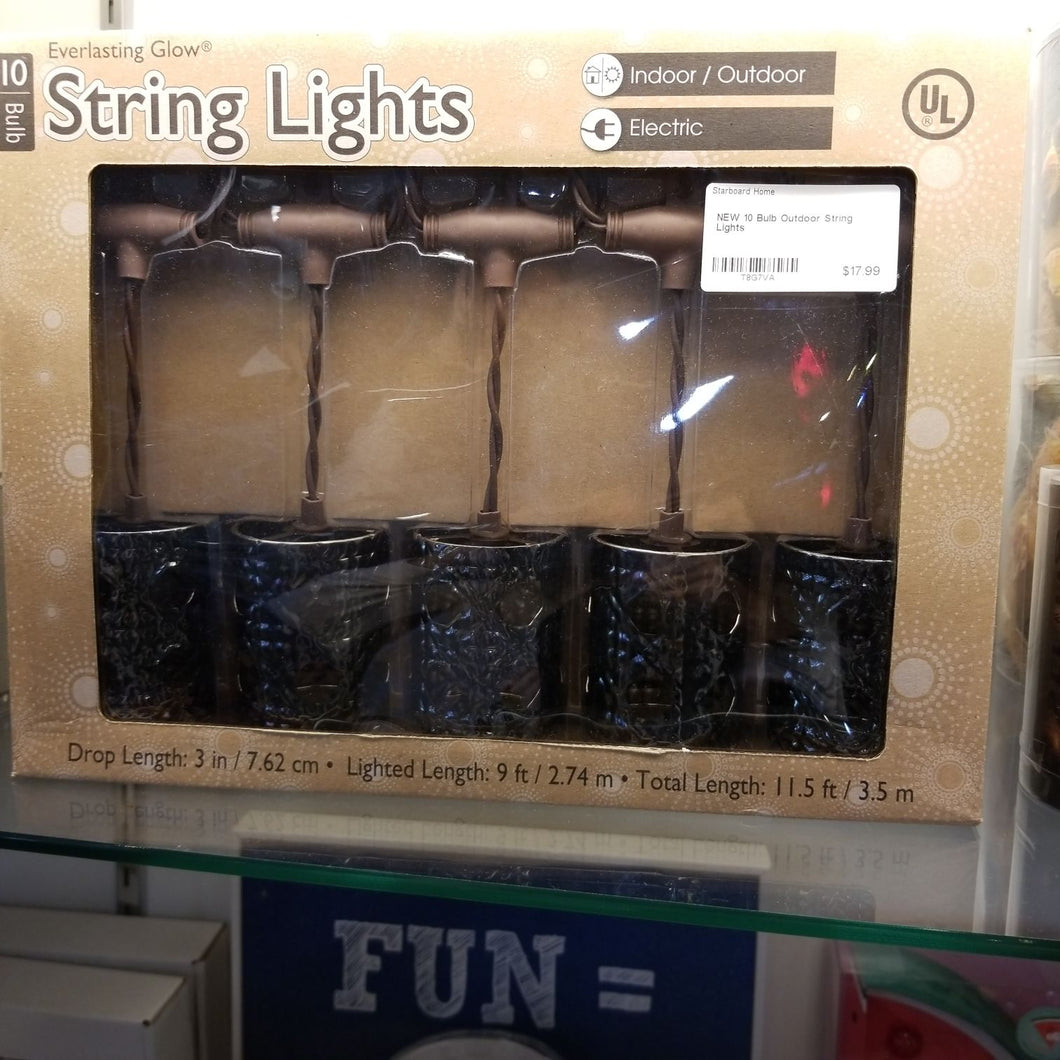NEW 10 Bulb Indoor/Outdoor String Lights