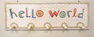 NEW Peg Board - Hello World - 28146