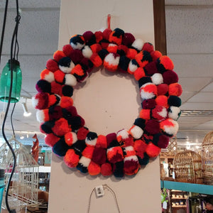 NEW Wreath - Pom Pom Multi - 101036