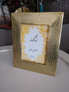 NEW 5x7 Gilded Hammered Frame - India - 16006