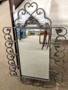 21x31 Scrolled Metal Framed Beveled Mirror