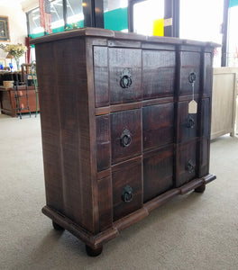 NEW 3 Drawer Mango Chest - Deep Brown