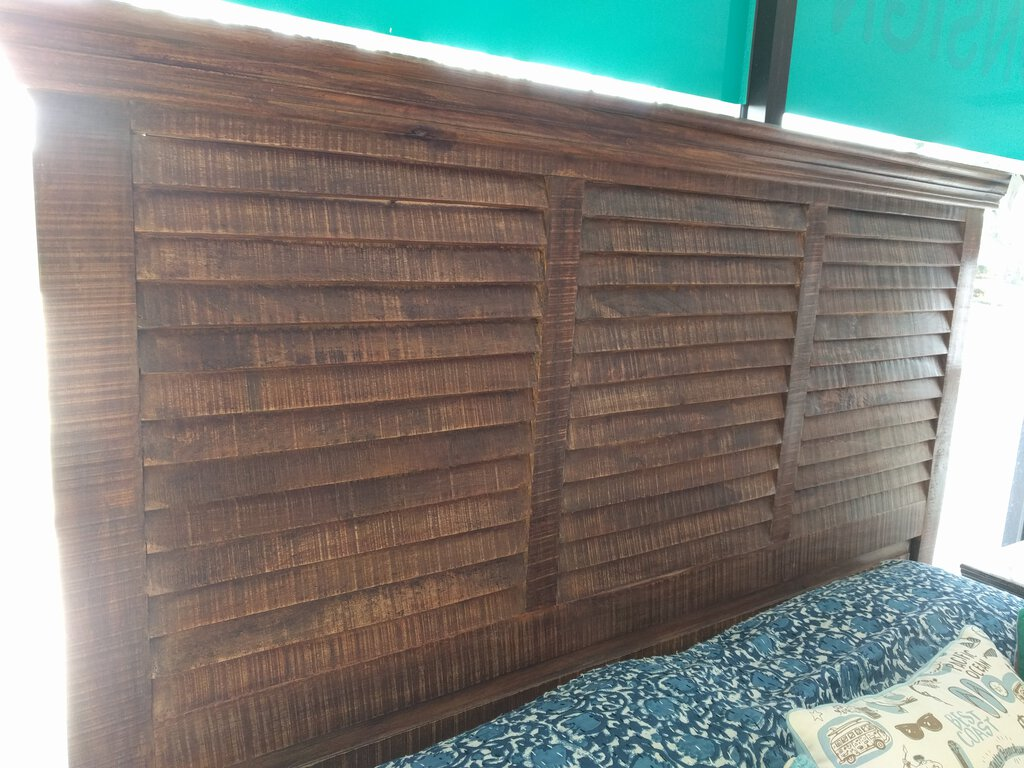 NEW Mango Shutter Queen Headboard - Brown - GI-11783
