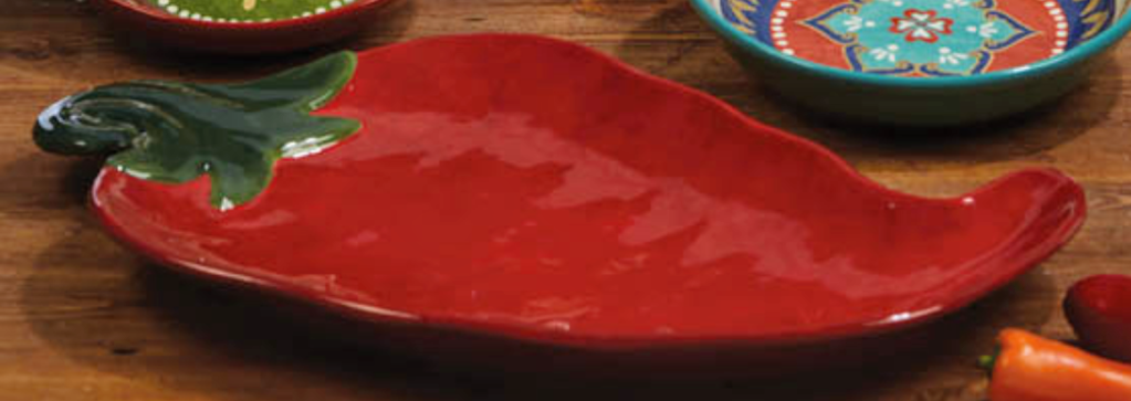 NEW Certified International Monterrey 19.5x12.5 Chili Pepper Platter 57445