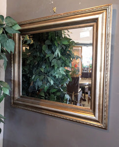 28 x 32 Silver Wheat Patterned Frame with Beveled Mirror