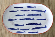 "Load image into Gallery viewer, NEW 14"" School Of Fish Terracotta Platter 40700086"