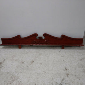 "77"" x 11"" Cherry Rope Edge Pediment - WAREHOUSE"