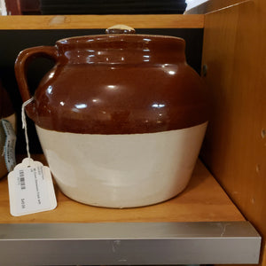 #3 Crown Stoneware Crock with Lid