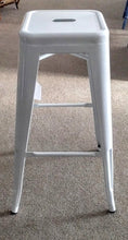 Load image into Gallery viewer, NEW Heavy Duty White Tolix Bar Stool