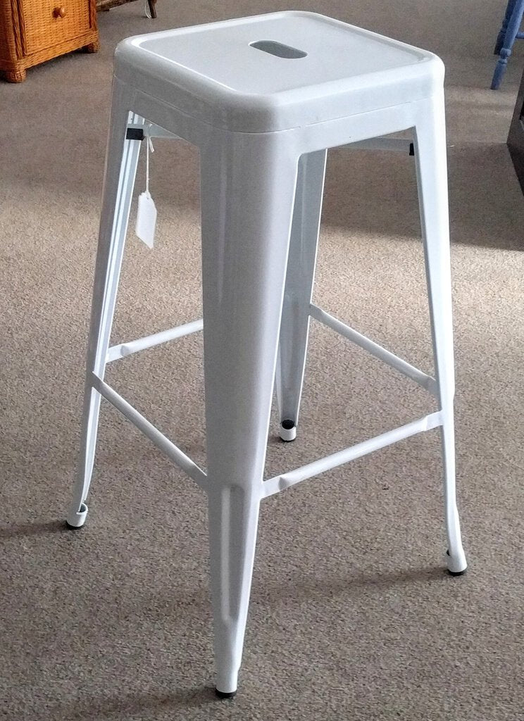 NEW Heavy Duty White Tolix Bar Stool