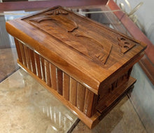 Load image into Gallery viewer, 9.5 x 6 x 4.5 Carved Wooden Box with Dolphin Design