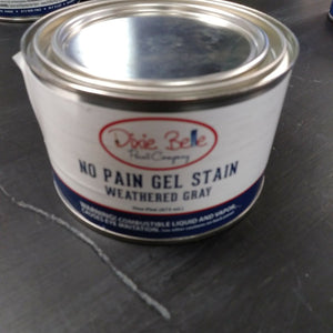 Dixie Belle No Pain Weathered Gray Gel Stain 16oz