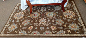 "63"" x 90"" Sphinx by Oriental Weavers ""Ensley"" Collection Brown Multicolored Area Rug"