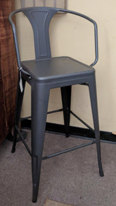 Heavy Duty GunMetal Tolix Bar Stool