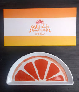 "NEW 9.5"" ""Zesty Life"" Tray in Box by Rosanna"