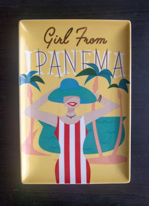 "NEW ""Girl from Ipanema"" Tray in Box by Rosanna"