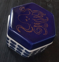 "Load image into Gallery viewer, NEW Ceramic Trinket Box ""Azure"" Octopus in Box by Rosanna"