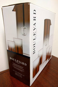 NEW Boulevard by Godinger Five Piece Crystal Barware Set (In Box)