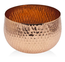 "Load image into Gallery viewer, NEW 7"" Godinger Gatherings Sunburst Copper Finish Bowl (In Box)"