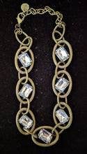 Load image into Gallery viewer, NEW Oversized Crystal and Chain Link Necklace
