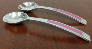 NEW Godinger Primary Colors Salad Servers, Violet