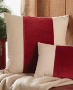 "NEW 20"" Square Red Velvet Pillow"