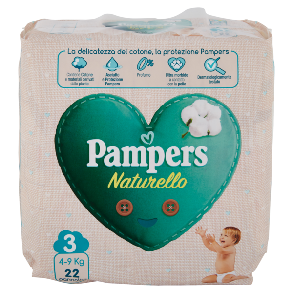PAMPERS NATURELLE TG.3 MIDI