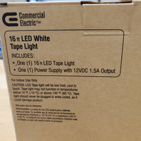 16ft LED White Tape Light
