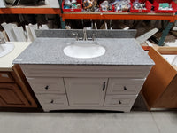"48"" Vanity with Grey Stone Top"