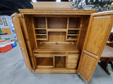 Armoire Desk with Keys