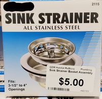 Sink Strainer Basket Assembly