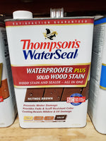WaterSeal Waterproofer plus Solid Wood Stain - Nutmeg Brown